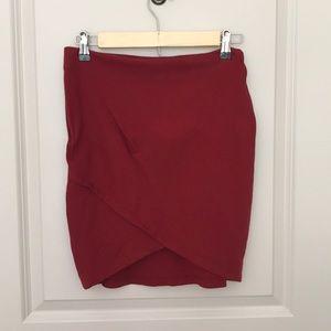 Forever 21 - Red A symmetrical Skirt